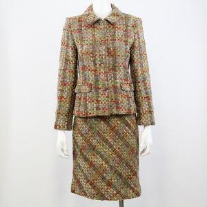 Paule Vasseur Suit S Jackie Tweed Blazer & Skirt